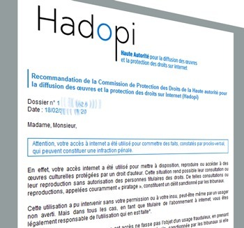 Hadopi : baisse de 20 % des avertissements en 2012 | Kill The Record Industry | Scoop.it