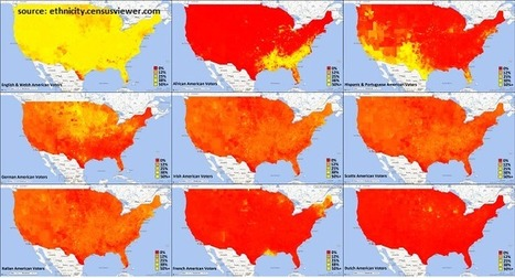 US Ethnicity Map per Address | World Geography And More | Scoop.it