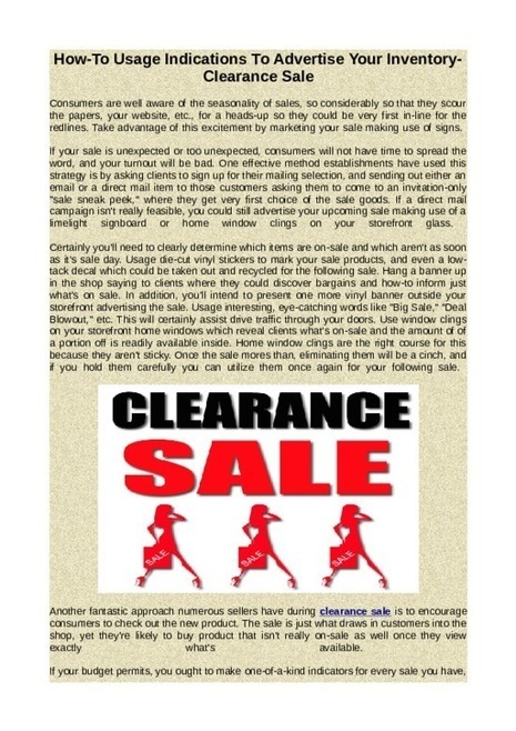 Clearance Sale - The Perfect Tim   Online Shopping   Scoop.it