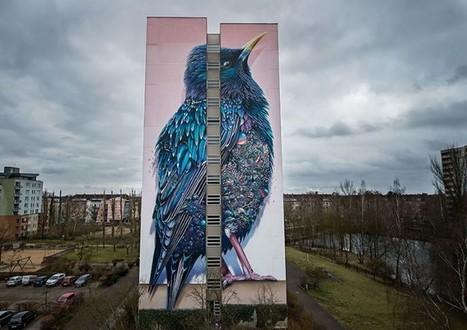 Fresque géante sur un immeuble de Berlin   Arkko   Scoop.it