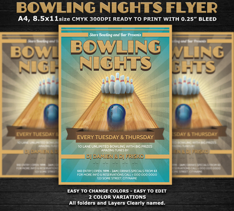 Customized Bowling Flyer Template PSD Sample – Excel Templates | ExcelTemp | Scoop.it