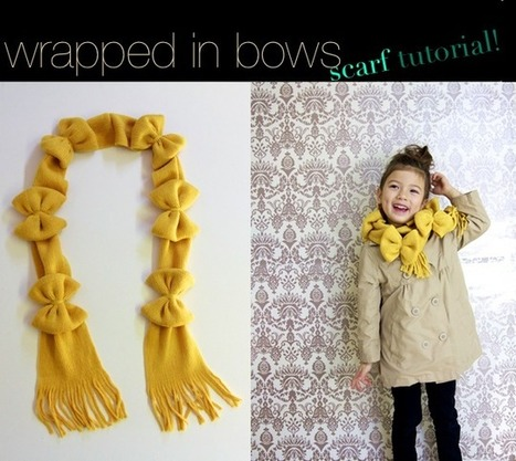 "~Ruffles And Stuff~: ""Wrapped in Bows"" Scarf Tutorial! 