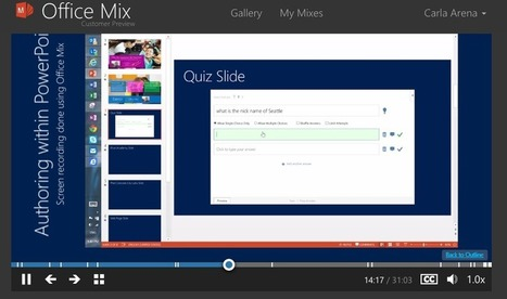 Ed Tech Tip of the Week – Interactive Lessons with Office Mix | carlaarena.com | APRENDIZAJE | Scoop.it