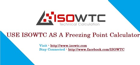 Scientifically Approved ISOWTC Freezing Point Calculation Calculator Software | Insulation Calculator | Scoop.it