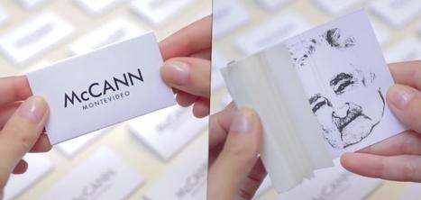 Des feuilles à rouler dans les cartes de visites de l'agence McCann pour promouvoir la créativité | communication | Scoop.it