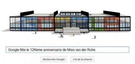 Google fête le 126ème anniversaire de l'architecte allemand Mies van der Rohe | UnSimpleClic | Allemagne tourisme et culture | Scoop.it