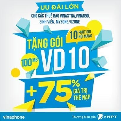 Vinaphone tặng miễn phí gói VD10, 75% giá trị thẻ nạp   Trao Doi   Scoop.it