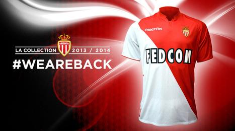 Nouveau maillot de l'AS Monaco 2013-2014 | Coté Vestiaire - Blog sur le Sport Business | Scoop.it