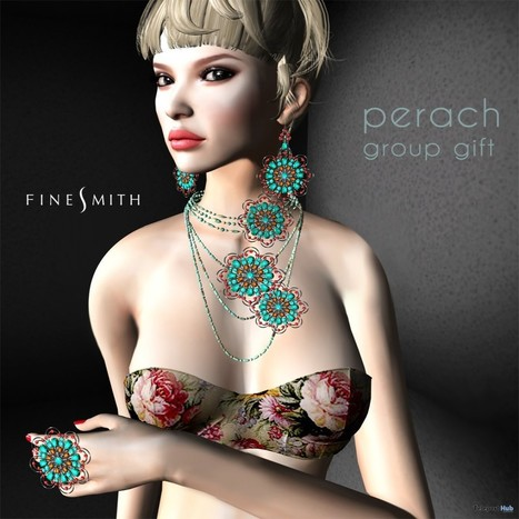Perach Jewelry Set July 2015 Group Gift by FINESMITH | Teleport Hub - Second Life Freebies | Second Life Freebies | Scoop.it