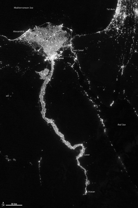 City Lights Illuminate the Nile : Image of the Day | John Dewey | Scoop.it