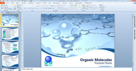 Free Scientific PowerPoint Template with 3D Bubbles | physique | Scoop.it