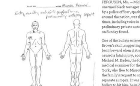 Jeune noir tué à Ferguson: L'autopsie montre qu'il a été frappé par six balles | Art Danse Théâtre Musique francophone | Scoop.it