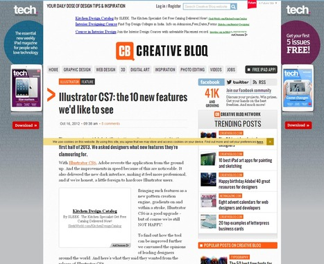 Illustrator CS7: the 10 new features we'd like to see | Creative Bloq | 23 Cool New Features in Adobe Photoshop CS6 | Scoop.it