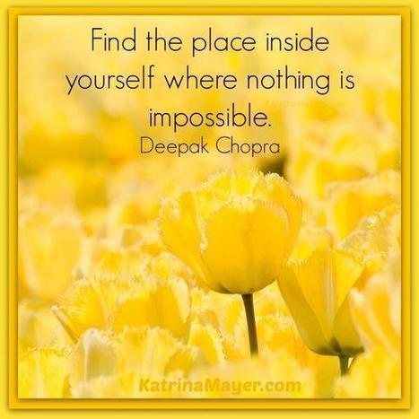 Twitter / NancyWest2012: Find the place inside yourself ... | #thingsilove @dealiciousitalian.com | Scoop.it