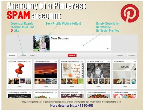 Spam & fishing on Pinterest - Infographic | Pinterest for Business | Scoop.it