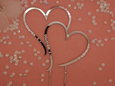 Kagetop - hjerter med Krystaller - Prinsessens Bryllup | Bordpynt Til Bryllup, Invitationer Til Bryllup | Scoop.it