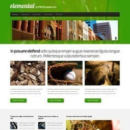 HTML5 Templates | Free + responsive HTML5/CSS3 website templates | CHUCOL Project I | Scoop.it