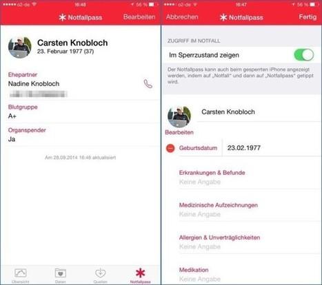 iOS 8: Notfallpass einrichten | Netzgeflüster | Scoop.it