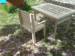 Réaliser une table de jardin et ses chaises avec seulement des chutes de bois #Idées #déco #jardin #DIY | Best of coin des bricoleurs | Scoop.it