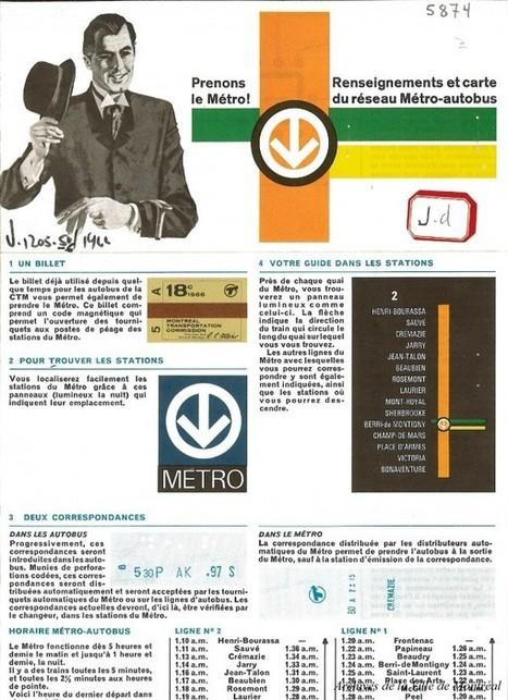 « Vite monté… Vite rendu! » Le Métro de Montréal a 50 ans (1966-2016) | Archives de Montréal | Au hasard | Scoop.it