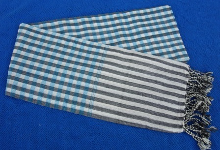 Traditional Cotton Striped Scarf, handmade ethically by local disadvantaged weavers   Silk Scarfs, Ethically handmade   Scoop.it