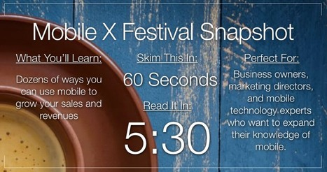 41 Ways You Can Use Mobile to Grow Your Business | Mobile X Festival | Pedalogica: educación y TIC | Scoop.it