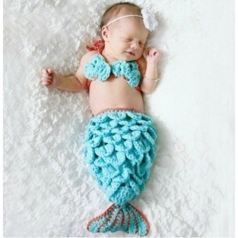 Handmade Crochet Baby Mermaid Halloween Costumes Toddler Birthday Outfits | Personalized Clothing | Scoop.it