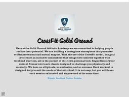 CrossFit Solid Ground | Crossfit | Scoop.it