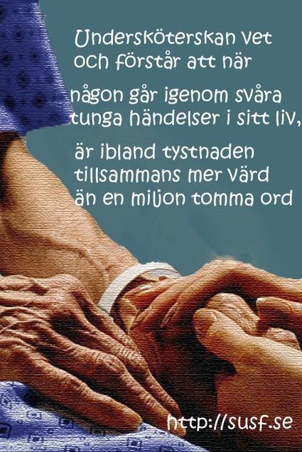 Ibland talar tystnaden | susf.se | Sveriges Undersköterska & Specialistundersköterska Förening, SUSF | Scoop.it