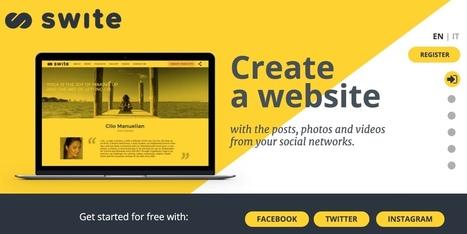 Swite. Créer un site avec le contenu de vos réseaux sociaux – Les outils de la veille | Communication Web | Scoop.it