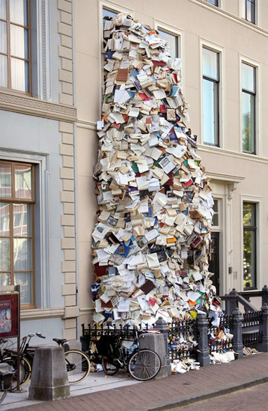 Waterfalls Made of Books | Garden Buildings For Work, Rest & Play | Scoop.it