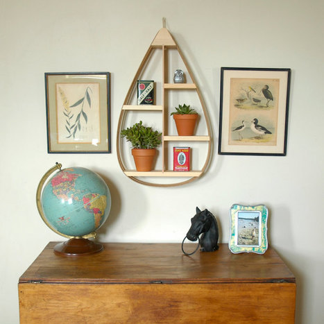 Quirky Teardrop-Shaped Shelves Add Unconventional Style to Everyday Decor | Le It e Amo ✪ | Scoop.it