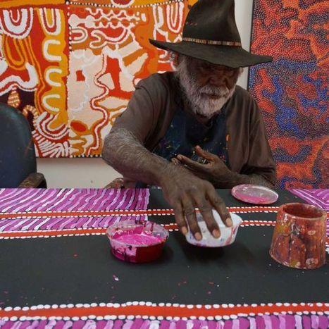 Pitjantjatjara artist, Mumu Mike Williams | ABC (Australie) | Kiosque du monde : Océanie | Scoop.it
