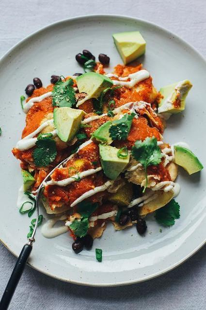 Deconstructed Vegan Enchiladas Recipe From 'The First Mess' | My Vegan recipes | Scoop.it