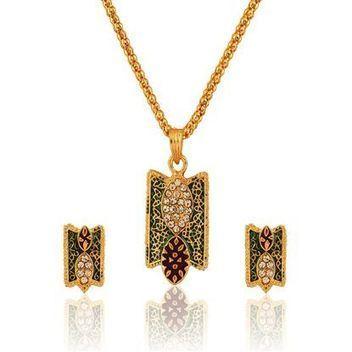 Awesome Enamel Pendant Set | Indian Jewelry Online | Scoop.it