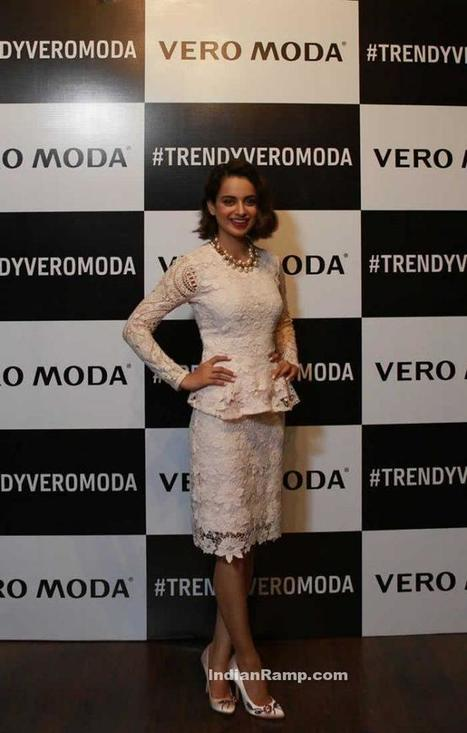 Kangana Ranaut in tRENDY White Vero Moda Outfit, Actress, Bollywood, Western Dresses | Indian Fashion Updates | Scoop.it