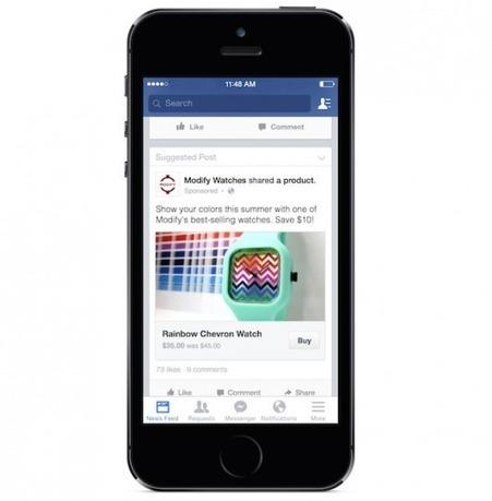 Facebook teste un bouton acheter | Business et réseaux sociaux | Scoop.it