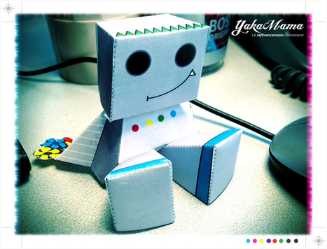 "Le robot ""Google Bot"" en paper toy 
