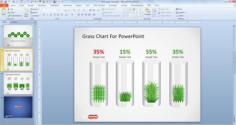 Free Creative Grass Chart Idea for PowerPoint - Free PowerPoint Templates | Processes | Scoop.it