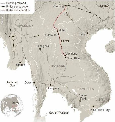 Laos May Bear Cost of Planned Chinese Railroad | Geography Education | Scoop.it