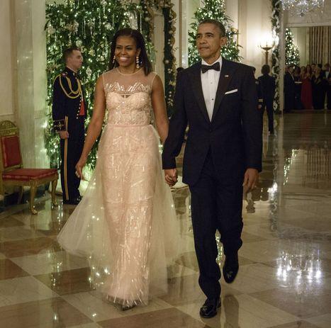 Michelle Obama Holiday in Monique Lhuillier | Best Fashion Week | Scoop.it