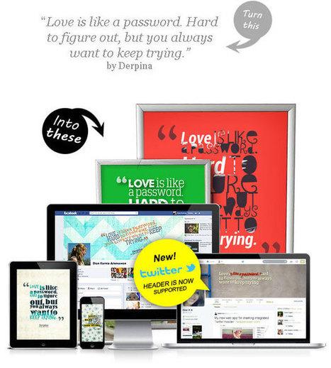 QuotesCover.com Herramienta para poner texto en imágenes | Educacion, ecologia y TIC | Scoop.it