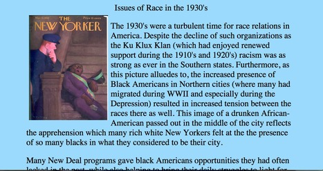 Historical Website #3 | African Americans during the 1930s | Scoop.it