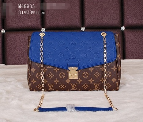 44663 Blue Monogram Bag - £136.98 | I found the Bags Home | Scoop.it
