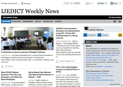 Aug 9 - IJEDICT Weekly News is out | Studying Teaching and Learning | Scoop.it