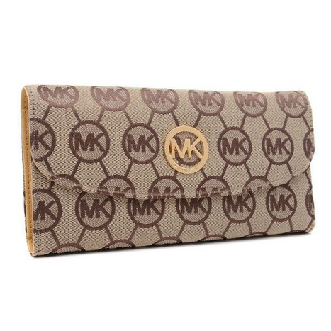 Discount Michael Kors Logo Monogram Large Beige Wallets at Prettybagoutlet | Michael kors Wallets | Scoop.it