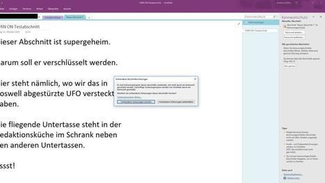 So verschlüsselst Du Notizen in OneNote | Mac in der Schule | Scoop.it