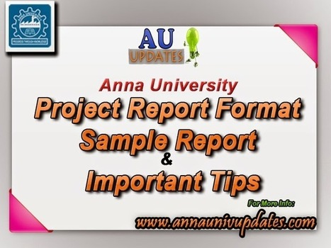 Anna University Final Year Project Report Format UG PG ~ Anna University April May June 2015 Time table- Auupdates | Anna UNiversity Updates | Scoop.it