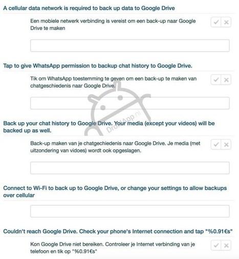 Whatsapp, Google Drive integration coming soon   Mobel Media   Alwasat_tech   Scoop.it