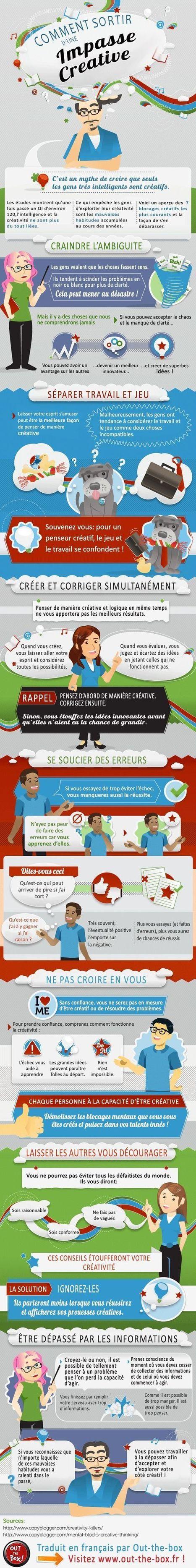 [Infographie] Comment sortir d'une impasse #créative ? | graphic-design | Scoop.it